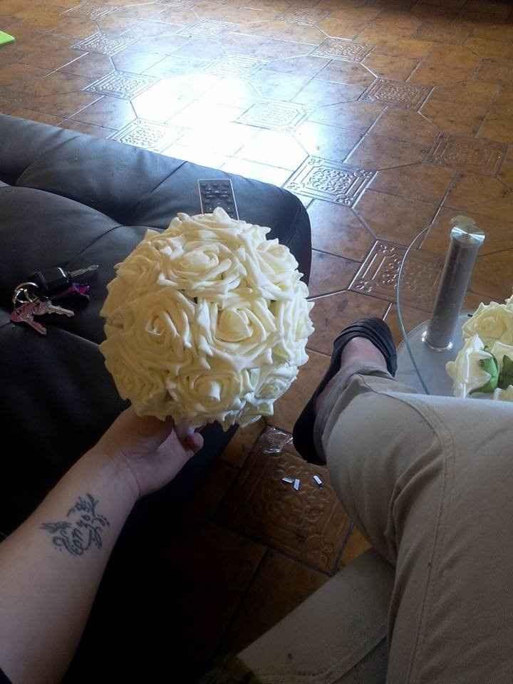 Mon bouquet maison .. le commencement :)