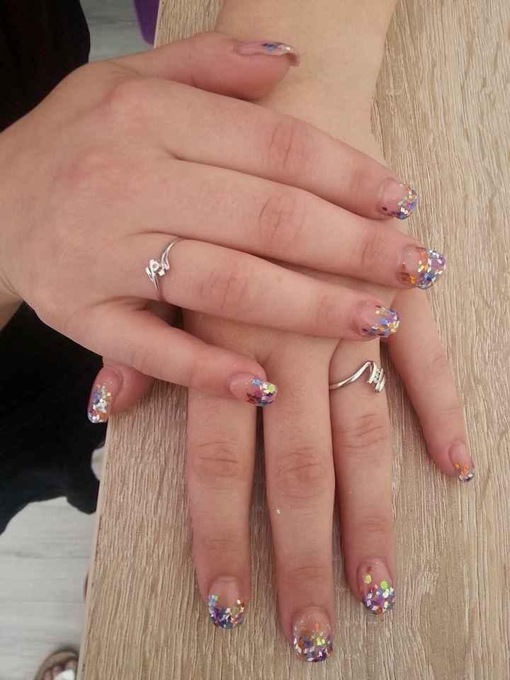 ongles choisi pour le jour j :)