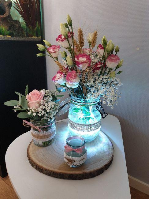 Essai centre de table fleuri - 2