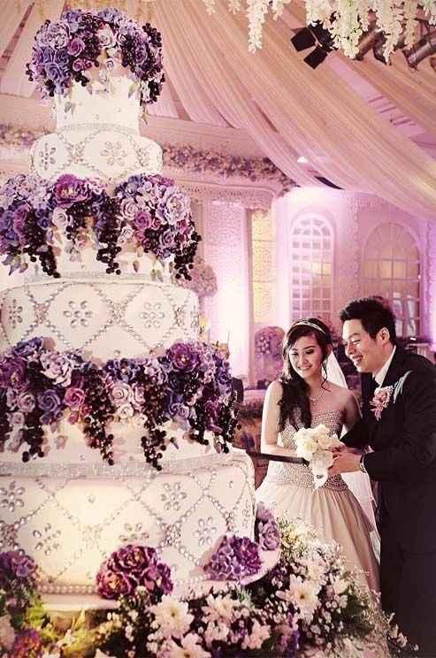 Combien d'étages aura votre wedding cake ?