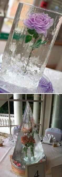 Centre de table en glace