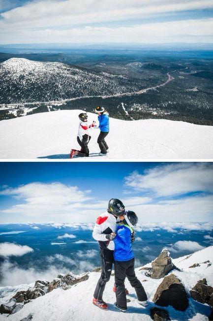 Demande en mariage en montagne