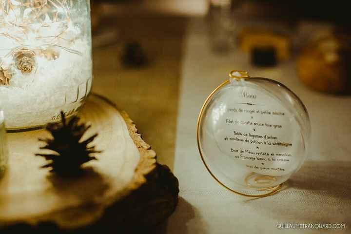 Noms de tables dans une boule en plastique : cherche photos - 1