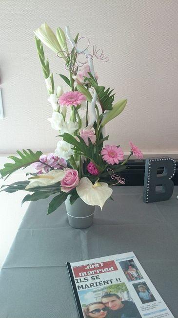 Composition florale pour la table de l 39 urne photo d coration for Composition florale pour table