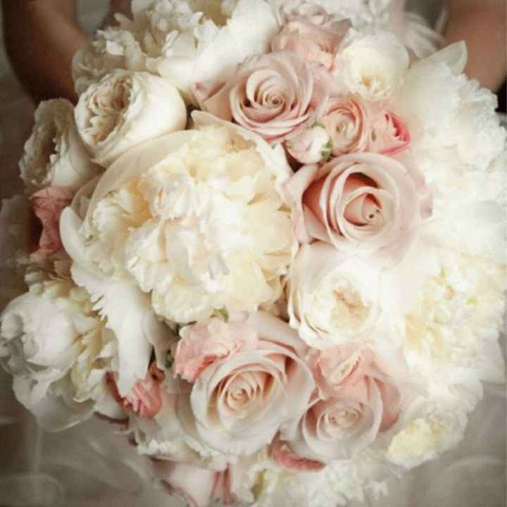 Bouquet champetre chic, rose - 1