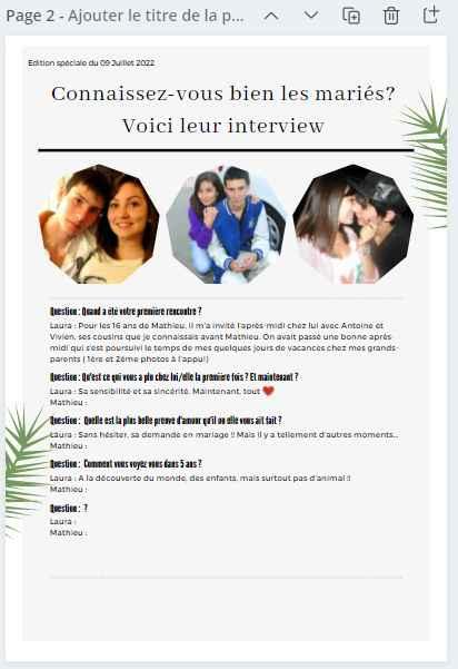 Gazette des marié.es : Oui ou non ? 🧾 - 2