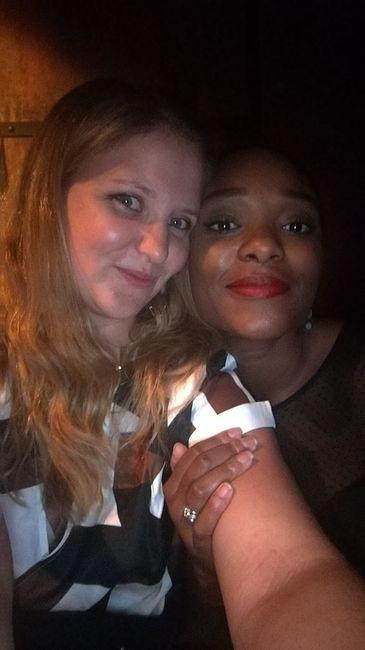 Morgane et moi lord d'une soirée années 80