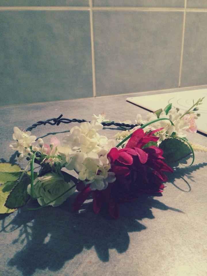 Ma couronne de fleurs diy - 2