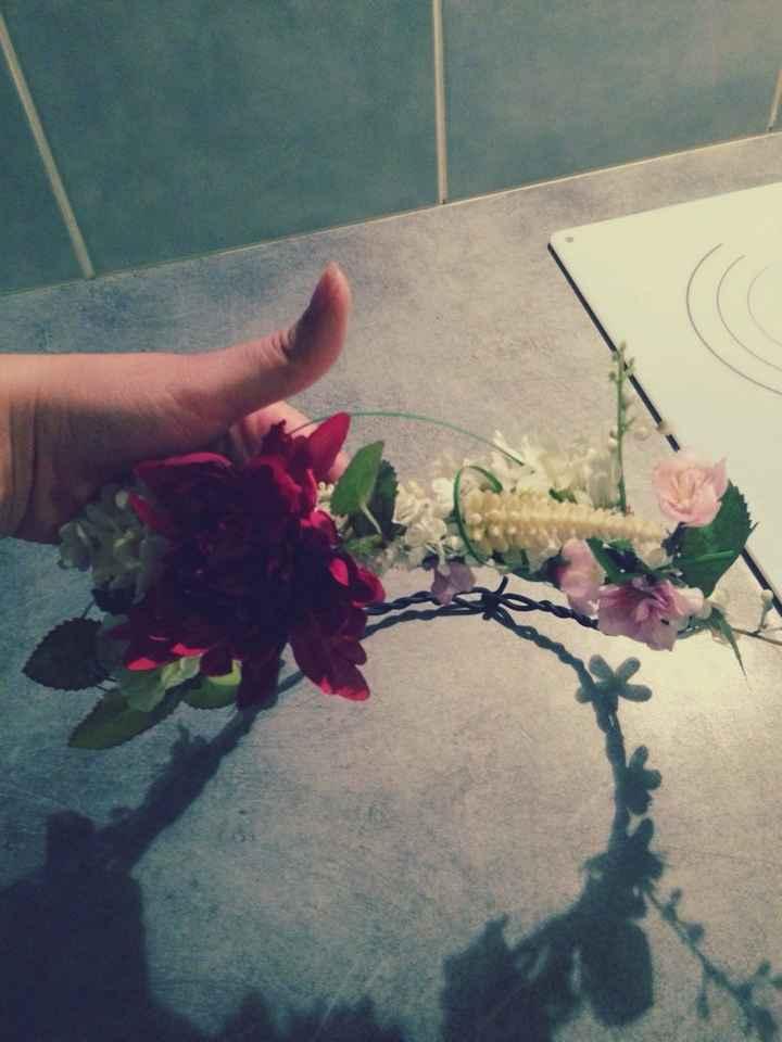 Ma couronne de fleurs diy - 3