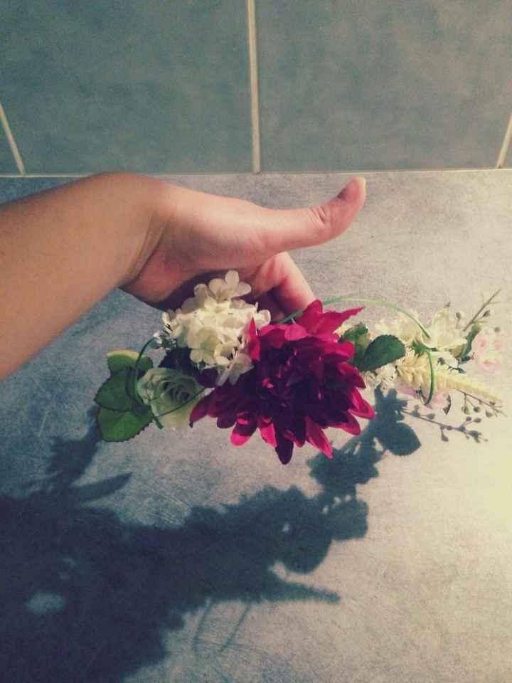 Ma couronne de fleurs diy - 4