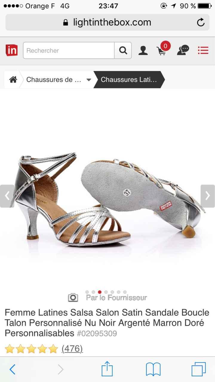 Chaussures de danse argenté!!! Help me!!! - 1