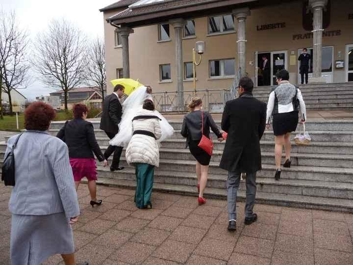 L'arrivée à la mairie
