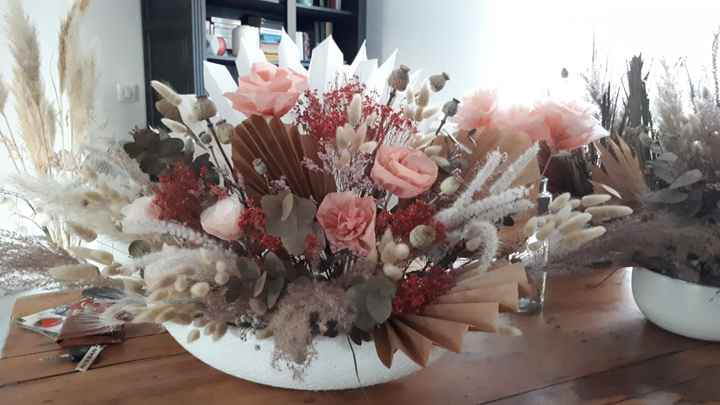 Composition florale 100% handmade - 2