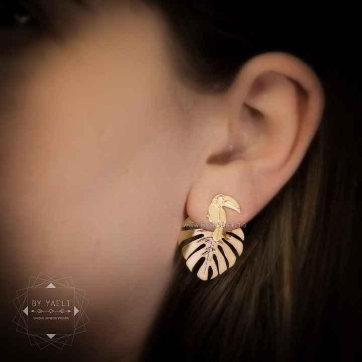 Boucles d'oreilles - thème jungle