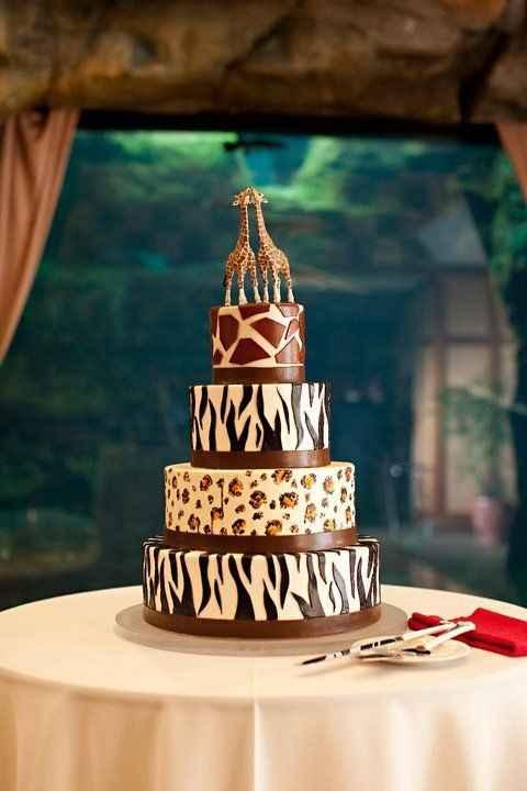 Gateau de mariage jungle/safari