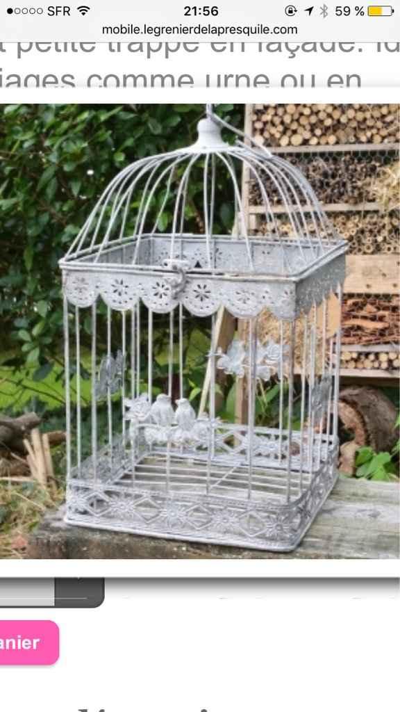 Cages oiseaux pour fleurs - 1