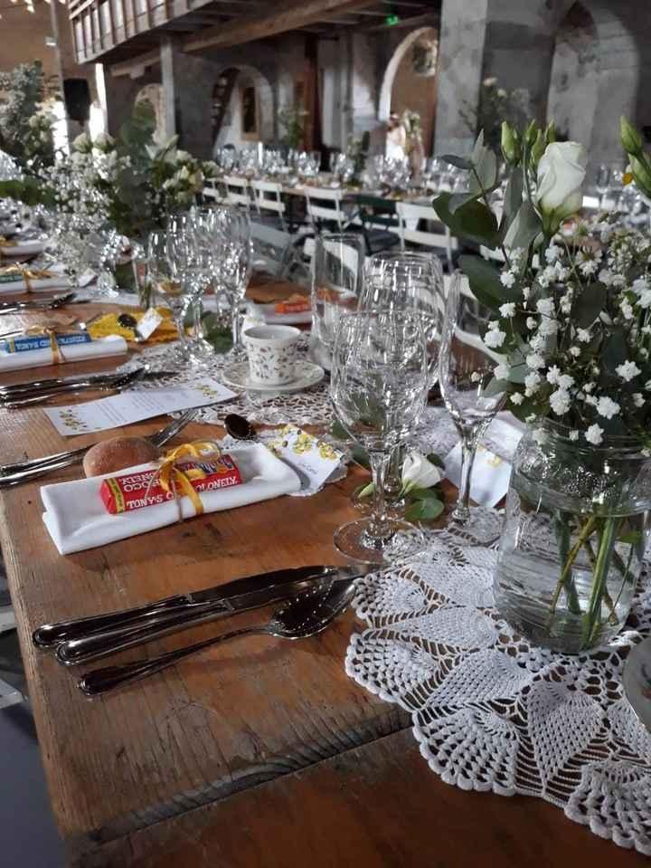 mariage avec tables sans nappe