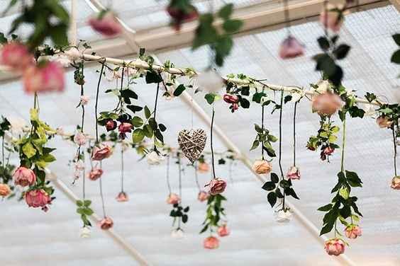 fleurs plafond