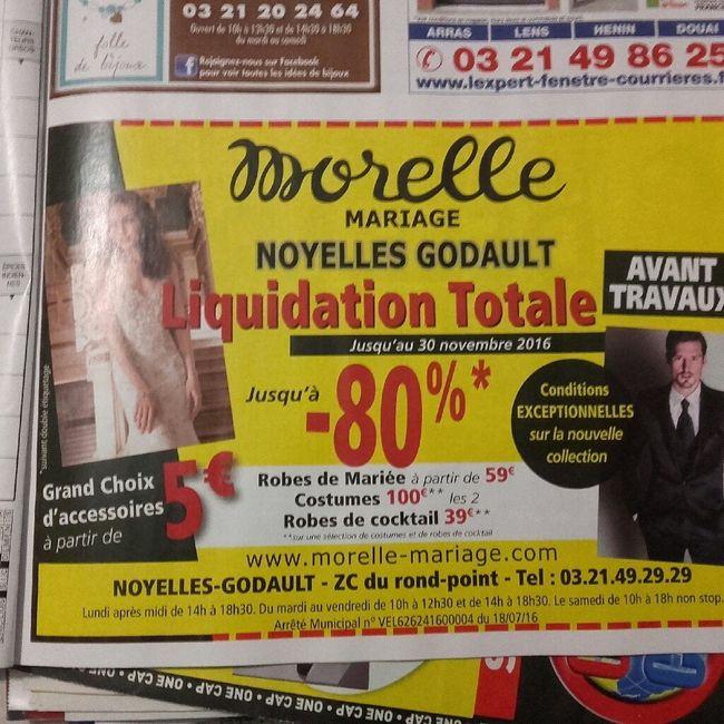 bonne nouvelle pour celles qui nont pas encore leurs robes de marie liquidation totale chez morelle mariage de noyelles godault 62 - Morelle Mariage Noyelles Godault