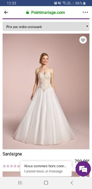 Prix de votre robe de mariée 1