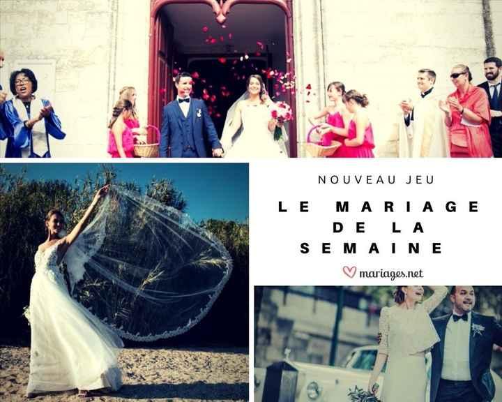 NOUVEAU JEU : Le Mariage de la Semaine ✨ 1