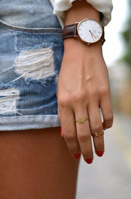 C : Une jolie montre achetée dans une petite boutique