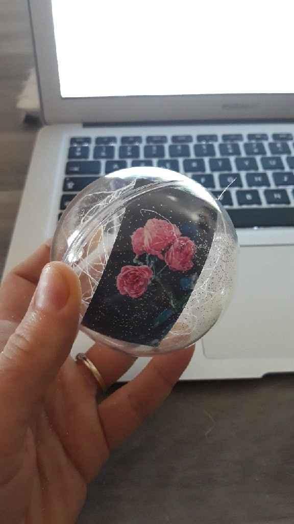 Menu et marque place et boules transparentes - 5
