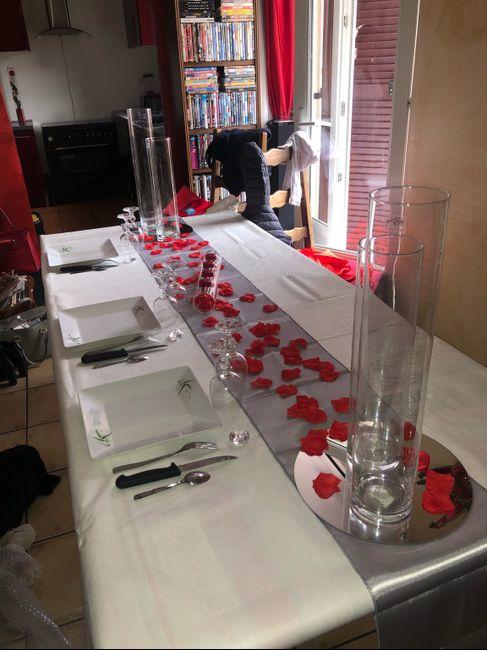 Hésitation décoration table d'honneur 1