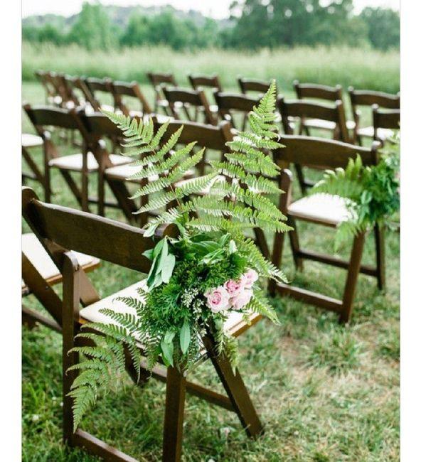 Inspiration fougère pour mariage dans la forêt. 1