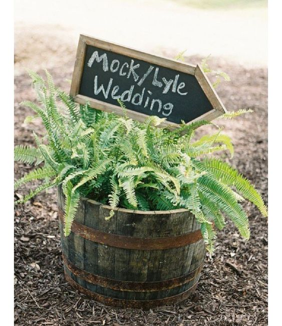 Inspiration fougère pour mariage dans la forêt. 2