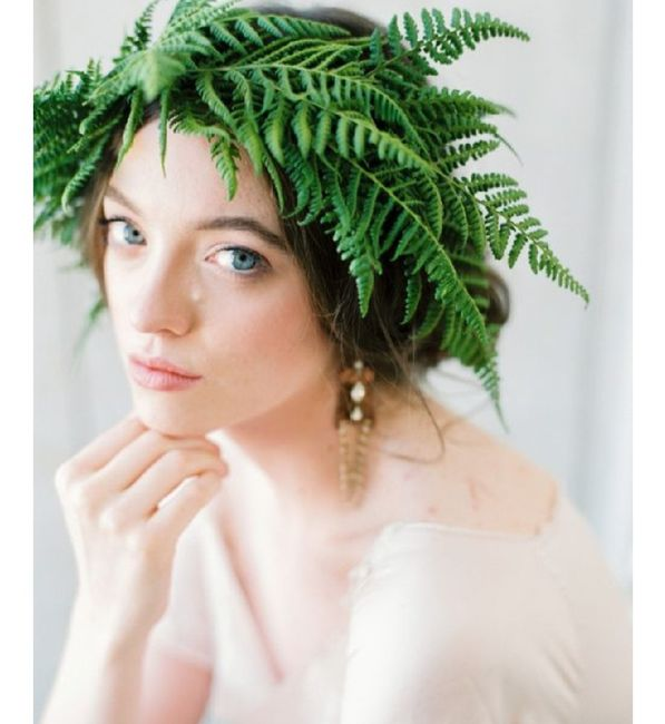 Inspiration fougère pour mariage dans la forêt. 3