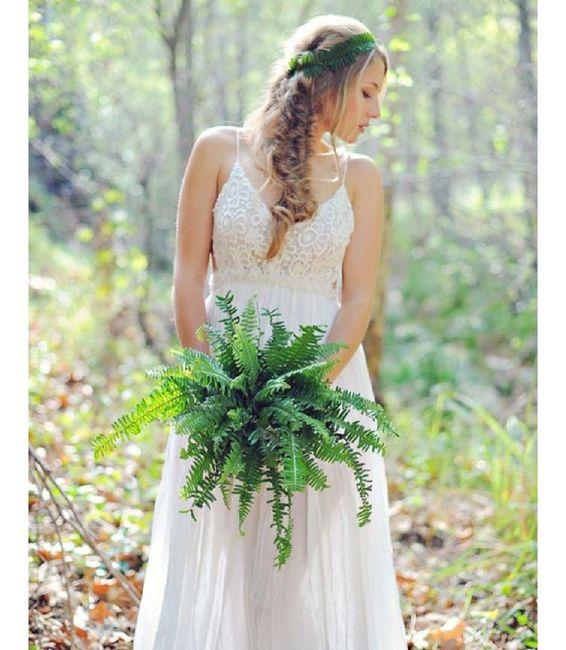 Inspiration fougère pour mariage dans la forêt. 4
