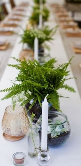 Inspiration fougère pour mariage dans la forêt. 5