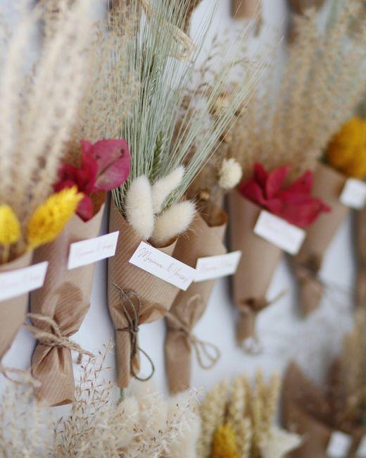 Cadeaux invités magnets en fleurs séchées - 2