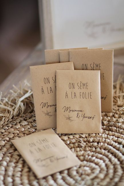 Cadeau invités - sachets de graines de fleurs 1