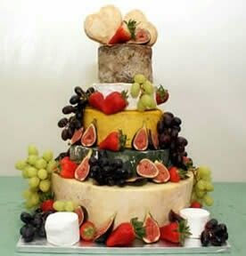 Cheese Wedding Cake Piece Montee Fromage