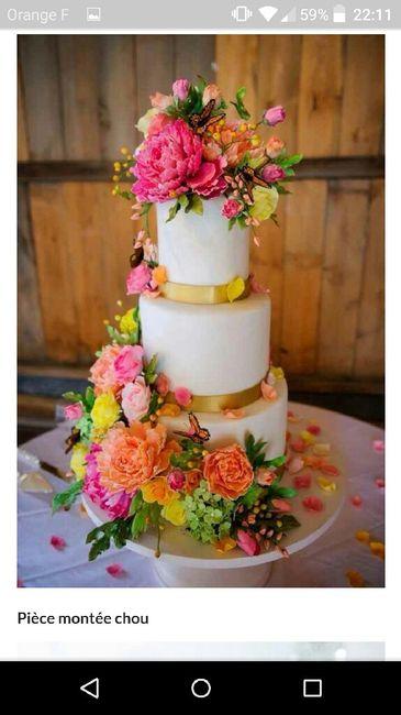 Risque ou pas : fleurs fraiches gâteau - 3