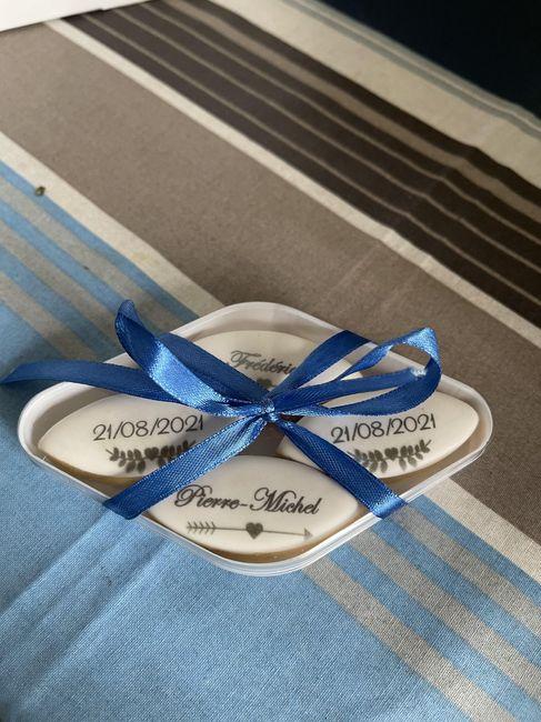 Cadeaux invités  calissons imprimés 1