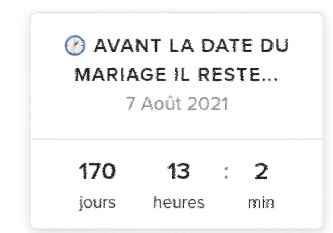 Avant la date du mariage il reste... - 1