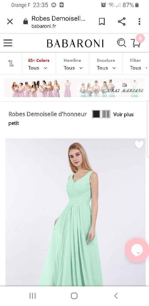 Robes de demoiselles d'honneur - 1