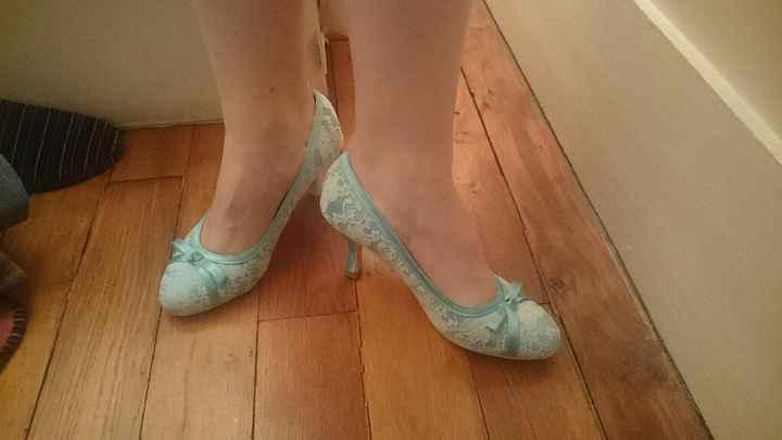 Chaussures vert menthe trouvées ^^ - 1