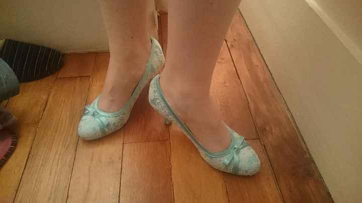 Des chaussures colorées pour la mariées - 1
