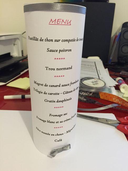 Diy menu - 1