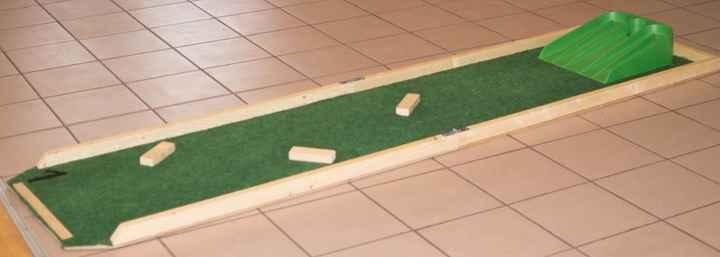 piste mini golf bois
