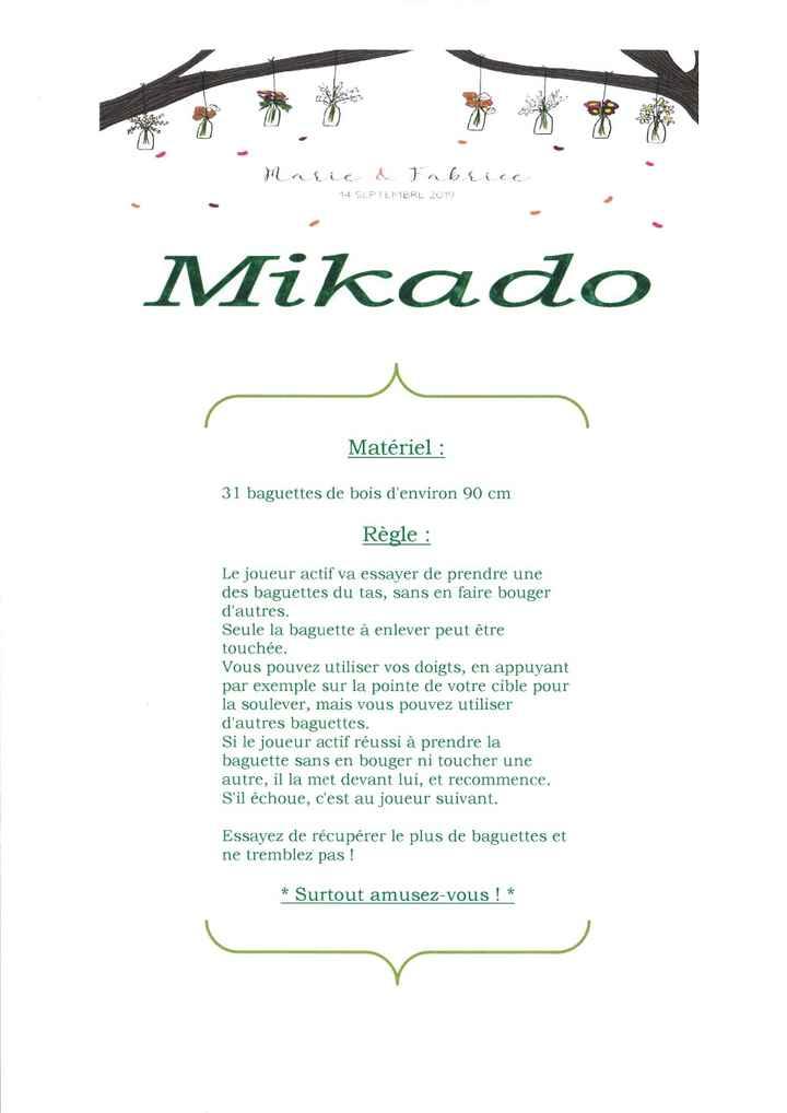 """affichette mikados """"géants"""""""