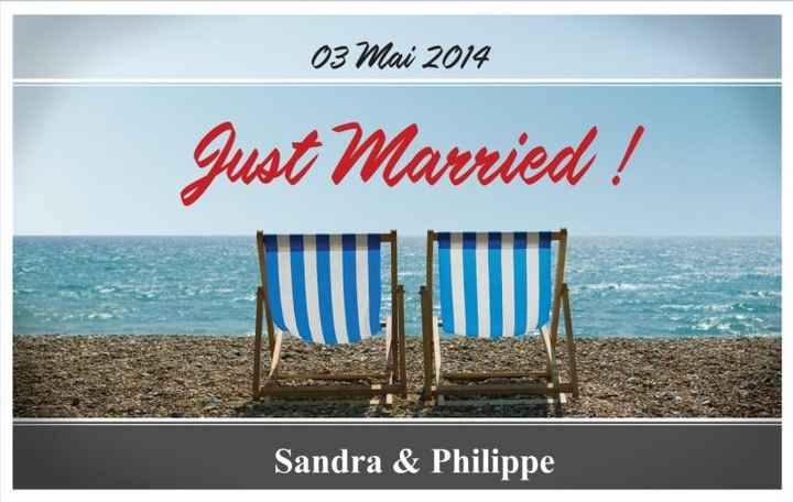 Banderole Just married