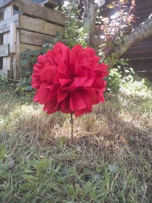 Fleur DIY en serviette papier