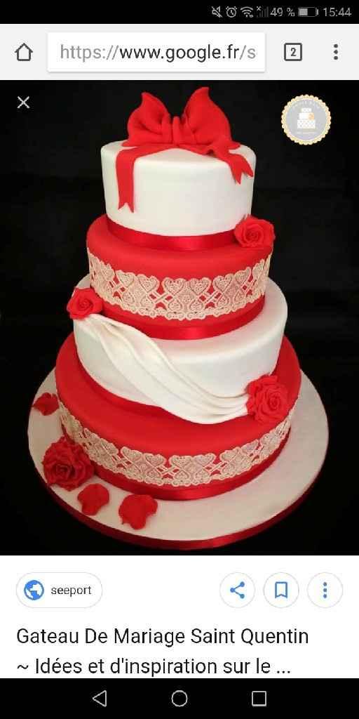mon Wendy cake theme rouge et blanc