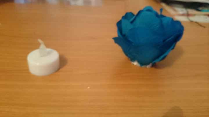 Bougie led en rose - 2
