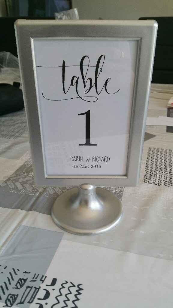 Mes numéros de table - 1